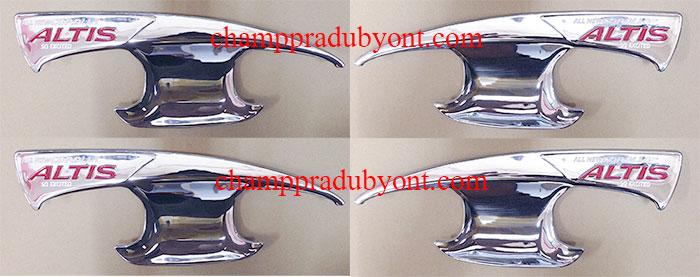 ถ้วยรองมือเปิดประตูโครเมี่ยม TOYOTA ALTIS 14-16 (V.3)