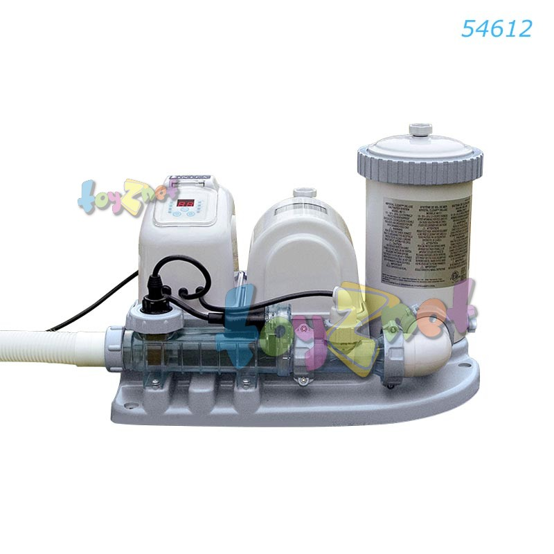 Intex เครื่องกรองน้ำระบบน้ำเกลือ-ไส้กรอง (อี.ซี.โอ.) 7,570 ลิตร/ชม. (ฟรี ไส้กรอง 6 ชิ้น) รุ่น 54612
