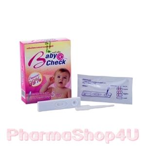 Baby Check (เบบี้ เช็ค) ชุดทดสอบการตกไข่ แบบหยด (5ชุด) ตรวจสอบหาช่วงเวลาที่ไข่ตก เพิ่มโอกาสในการตั้งครรภ์