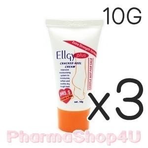 (ซื้อ3 ราคาพิเศษ) Ellgy plus Cracked Heel Cream 10 g เอลจี้ พลัส แคร็ก ฮีล ครีม ทาส้นเท้าแตก ช่วยคงความชุ่มชื้นทำให้ผิวหนังอ่อนนุ่ม