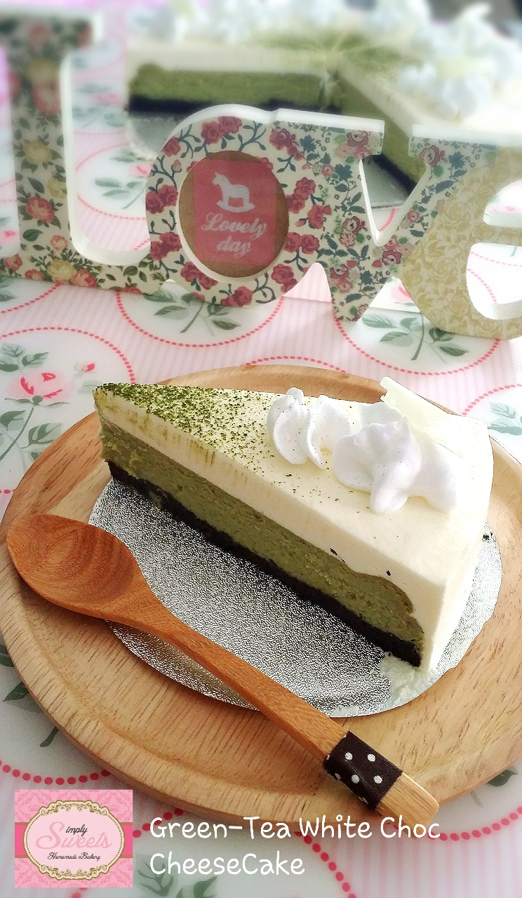 Green-Tea White Choc Cheese Cake