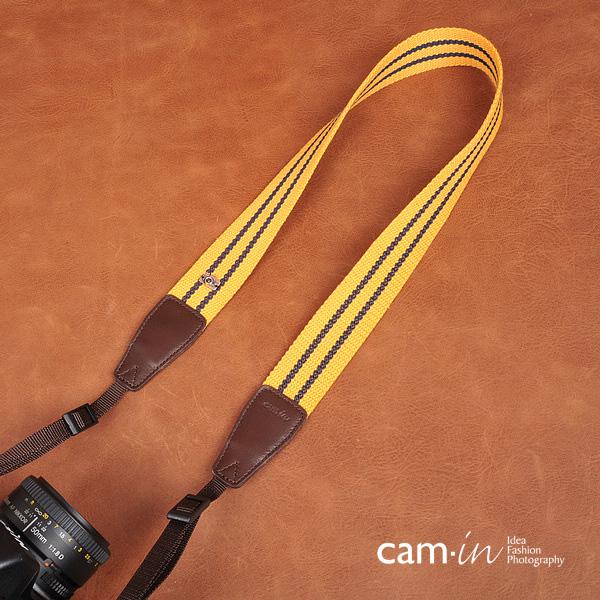 สายกล้องคล้องคอสวยๆ สีเหลืองทอง cam-in Precious Gold