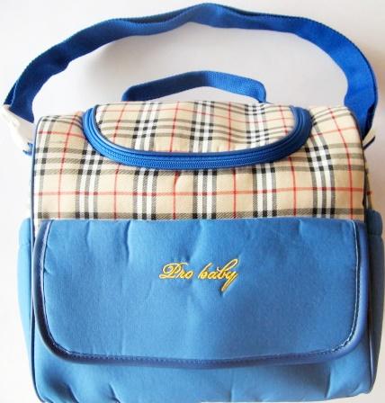 กระเป๋าสัมภาระคุณแม่ ลายสก๊อต ขนาด 17x30x37 cm.