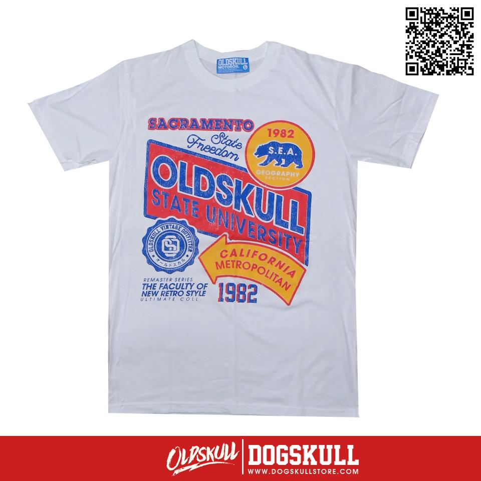 เสื้อยืด OLDSKULL: ULTIMATE | White