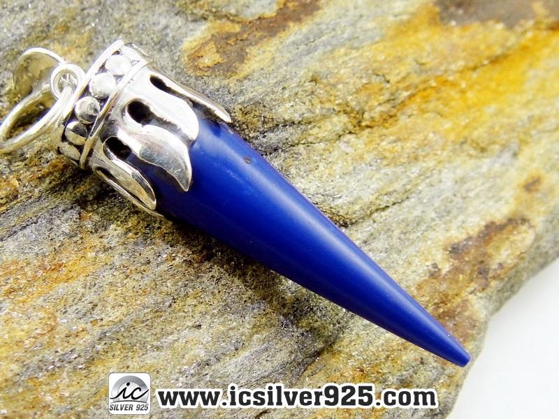 ลาพิส ลาซูลี่ (Lapis Lazuli) จี้เงินแท้ 925 (4.4g)
