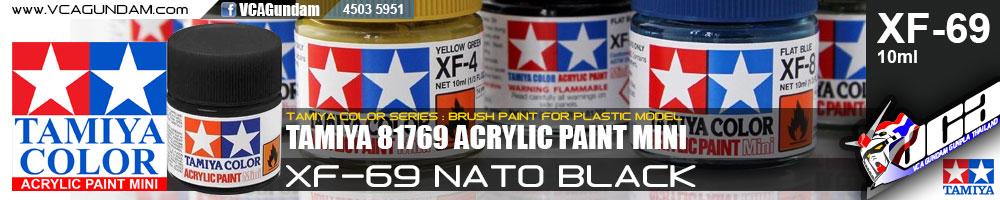 Tamiya 81769 ACRYLIC XF-69 NATO BLACK