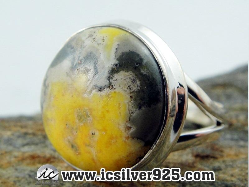 ▽Bumble Bee Jasper (บัมเบิ้ลบี แจสเปอร์) แหวนเงินแท้ 925(แหวนเบอร์ : 58 , 5.5g )