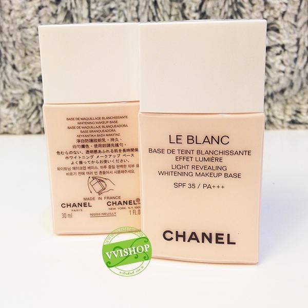 CHANEL Le Blanc Light Revealing Whitening Makeup Base SPF40 / PA +++ 30 ml. # 10 Rosee สีชมพู (ขนาดปกติ Inbox) เบสปรับผิวกระจ่างใส