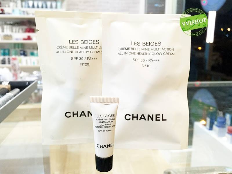 Chanel Les Beiges All-in-One Healthy Glow Cream SPF 30 PA+++ 2.5 ml. # 10 ผิวขาว (ประมาณ NC20)