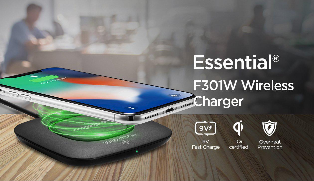 ที่ชาร์จไร้สาย SPIGEN Essential® F301W Wireless Charger (Ultra Slim)