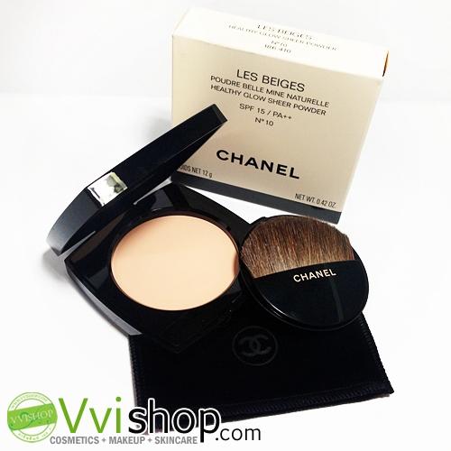 Chanel Les Beiges Healthy Glow Sheer Powder SPF 15 PA++ 12 g # 10 ผิวขาวอมชมพู แป้งเผยผิวสุขภาพดี (ขนาดปกติ In box)
