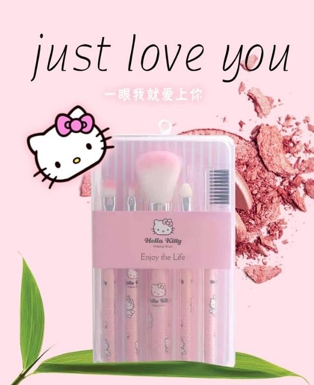 Hello Kitty Makeup Brush Set Enjoy The Life