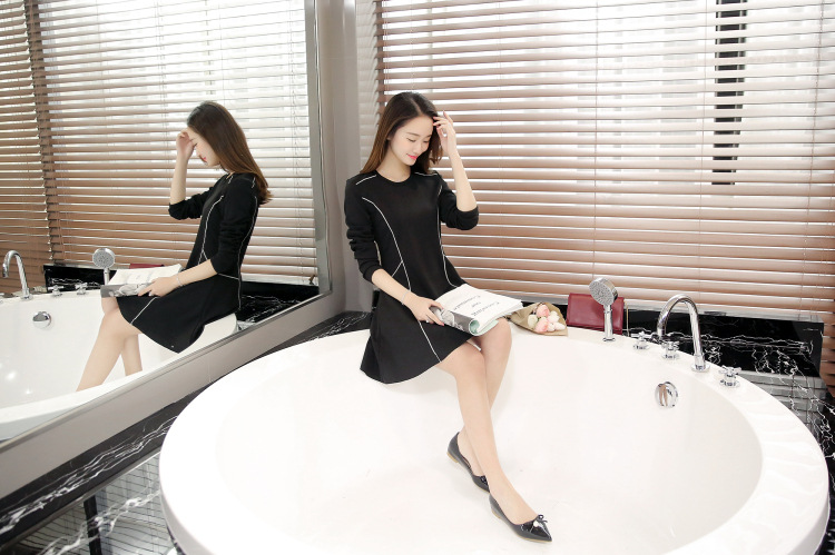 ชุดเดรสสีดำ แฟชั่นสีดำ ชุดเดรสราคาถูก ชุดเดรสพร้อมส่ง แฟชั่นชุดเดรส