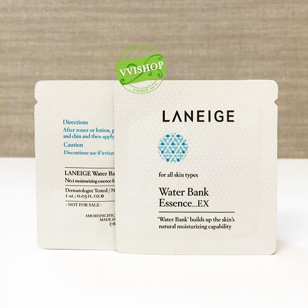 Laneige Water Bank Essence_EX 1 ml. เอสเซนส์เติมน้ำให้ผิว บางเบาดุจน้ำ แต่เต็มเปี่ยมไปด้วยสารสกัดจากธรรมชาติ *พร้อมส่ง*