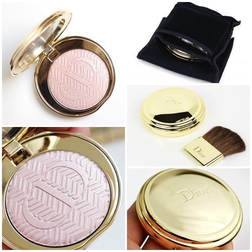 Dior State of Gold Illuminating Pressed Powder # 002 Sumptuous Pink สีชมพูอ่อนประกาย (ขนาดปกติ Inbox เคาน์เตอร์ไทย)