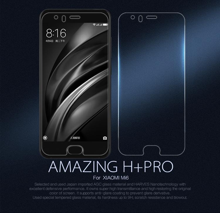 กระจกนิรภัย NILLKIN 9H+ PRO Xiaomi Mi 6 แถมฟิล์มติดด้านหลัง