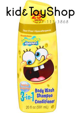 แชมพูครีมอาบน้ำ 3 in 1 Nickelodeon SpongeBob SquarePants กลิ่นส้ม ขนาด 20 fl oz
