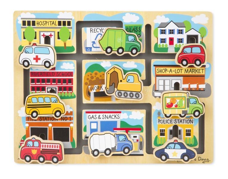 Melissa and Doug Maze Puzzle - รถ