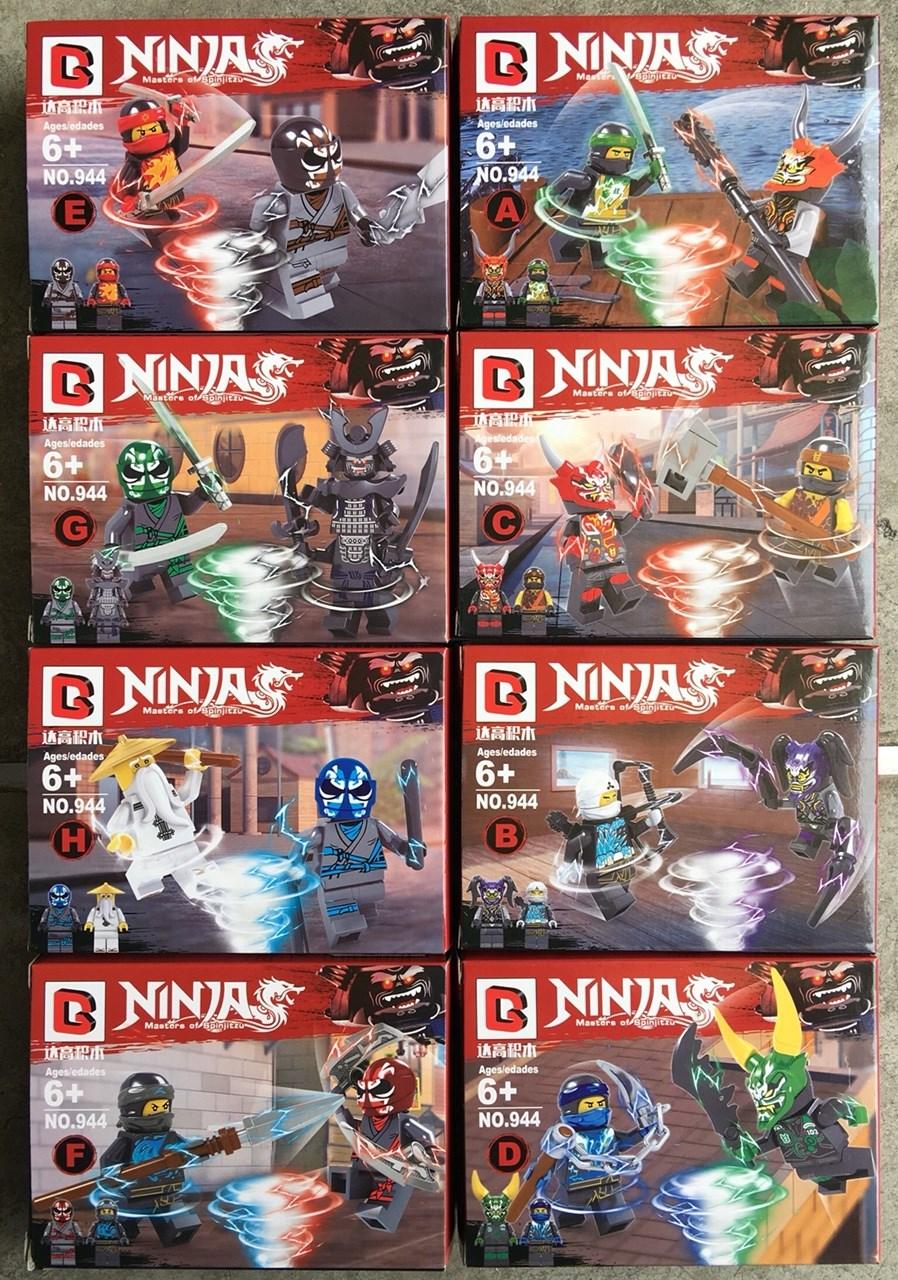 มินิฟิกเกอร์ Drago 944 ชุด Ninja Go 8 กล่อง 16 ตัว