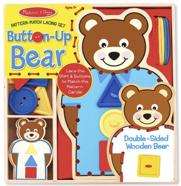 แต่งตัวหมีแสนสนุก Melissa and doug Button-Bear Pattern Match Lacing Set