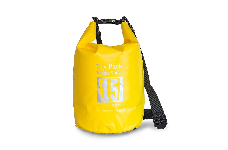กระเป๋ากันน้ำ Dry pack 15L-สีเหลือง