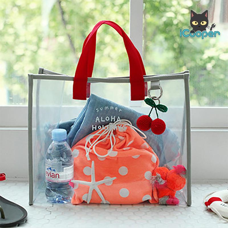 RONG.SHI.DAI Transparent PVC Bag (Red)