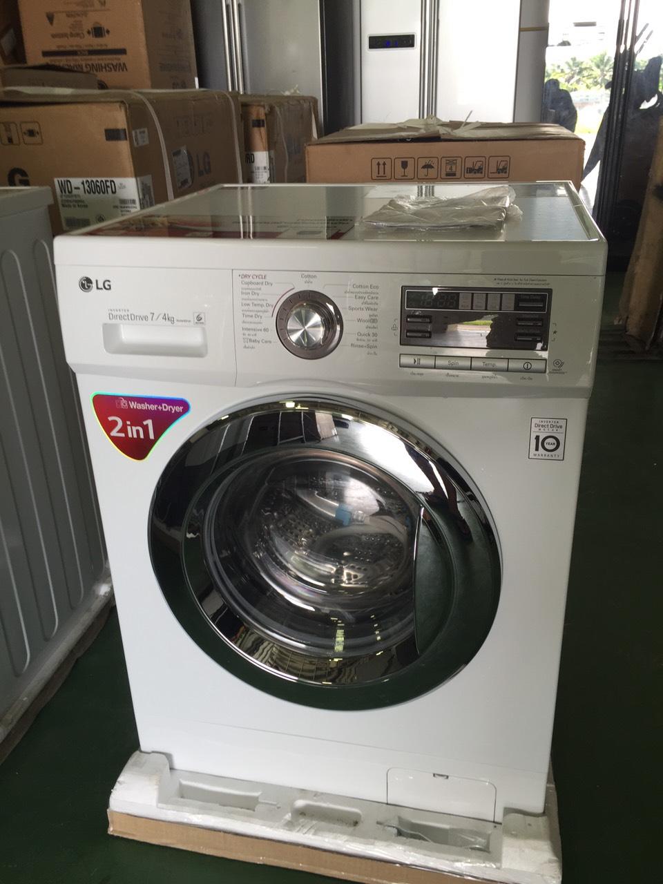 เครื่องซักผ้าฝาหน้า ขนาด7kg,อบ4kg. รุ่น WD-14170AD
