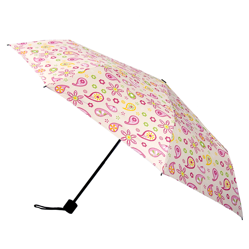 Pink Garden UV Coating Folding Umbrella ร่มพับ 3 ตอน เคลือบเงิน กัน uv สวนชมพู