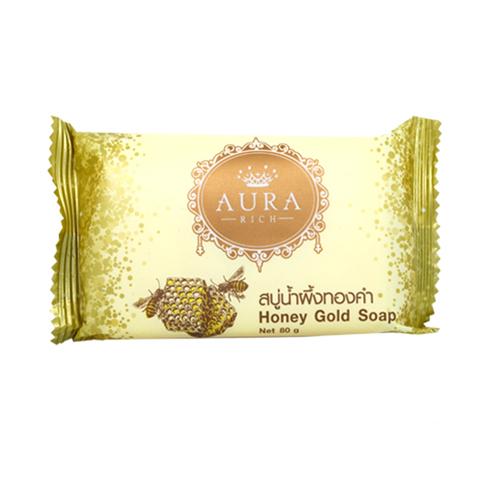 AURA RICH สบู่ออร่าริช สูตร น้ำผึ้งทองคำ Honey Gold Soap