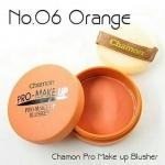 ปัดแก้มเนื้อแมท CHAMON PRO-MAKE UP เบอร์ 6 สีส้มอิฐ