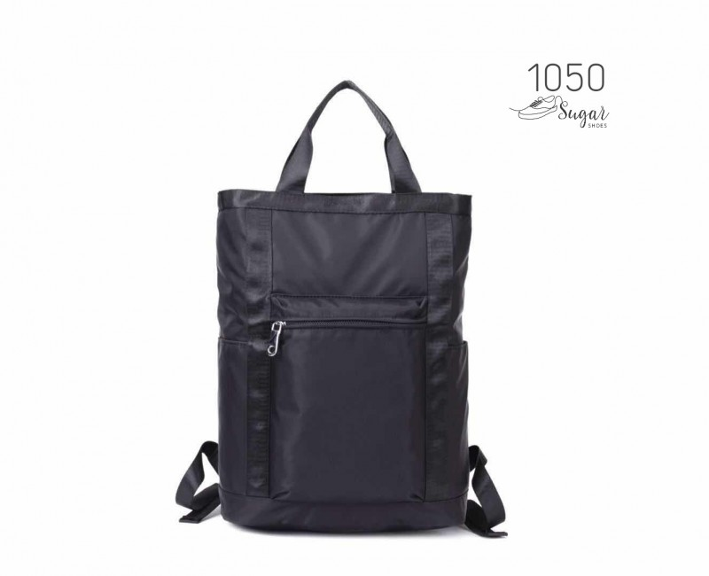พร้อมส่ง กระเป๋าเป้ผ้าไนล่อนใบใหญ่ - 1050 [สีดำ]