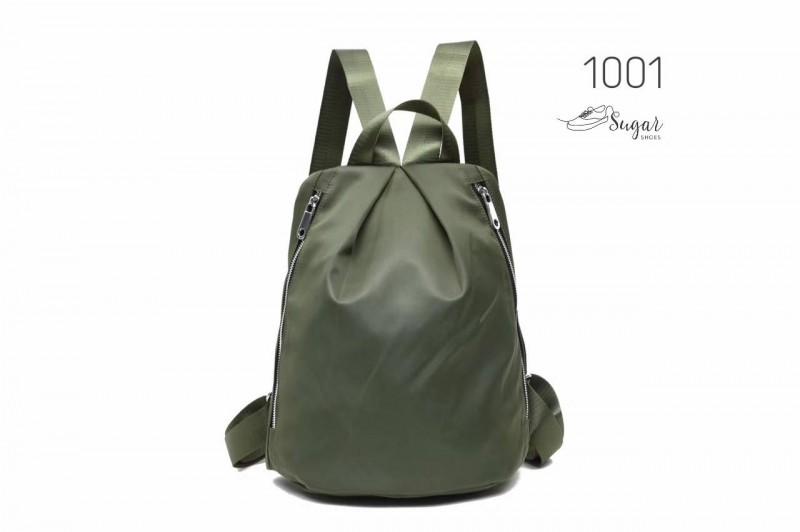 พร้อมส่ง กระเป๋าเป้ผ้าไนล่อนสไตล์ญี่ปุ่น - 1001 [สีเขียว]