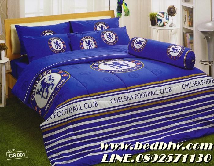 ชุดเครื่องนอน ผ้าปูที่นอน ลายทีมฟุตบอล ลายเชลซี Chelsea รุ่น CS001