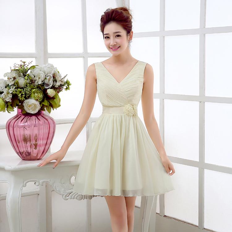 ขายส่งชุดเดรสออกงานเกาหลีสีขาวอมเขียวราคาถูก