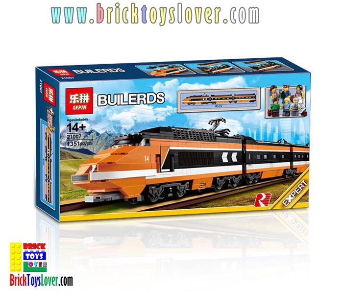 21007 ของเล่นตัวต่อ Builders Expert รถไฟฟ้า Skyline 3 ตู้รถไฟ