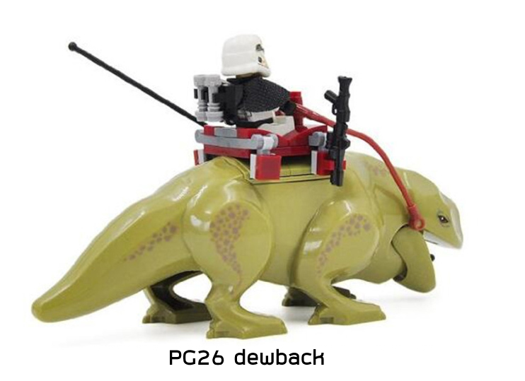 PG26 มินิฟิกเกอร์ Dewback กับทหาร Storm Trooper บรรจุมาในซอง ไม่มีกล่อง