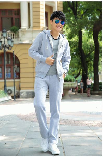 ชุดเช็ท | เสื้อกันหนาว Style เกาหลี มีหมวก Hood มาพร้อมกับกางเกง ชุดเซ็ท 2 ชิ้น แนว Sport
