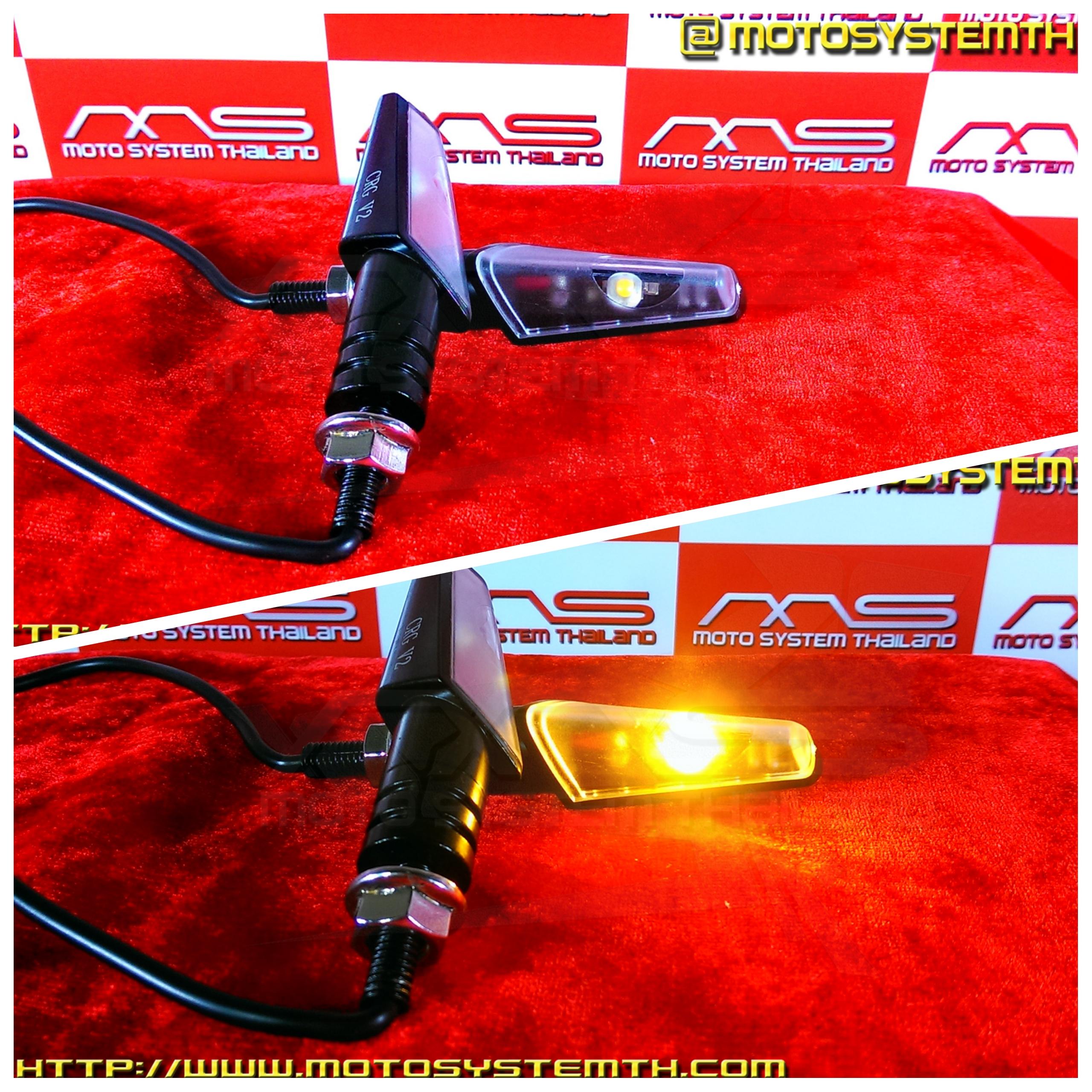 ไฟเลี้ยว LED ทรงอาร์2 เลนส์ใส