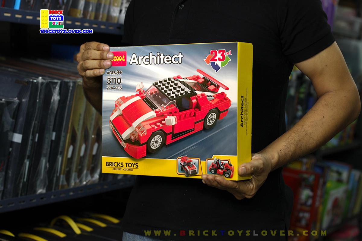 3110 ตัวต่อ Architect รถแข่งแปลงร่างได้สาระพัดแบบ 23 in 1