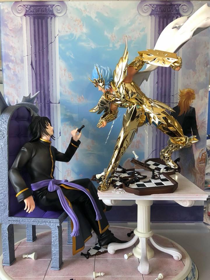 เปิดจอง Star Model - Saint Seiya Resin Manigoldo Cancer TLC Model 1:6 Figures Gold limited