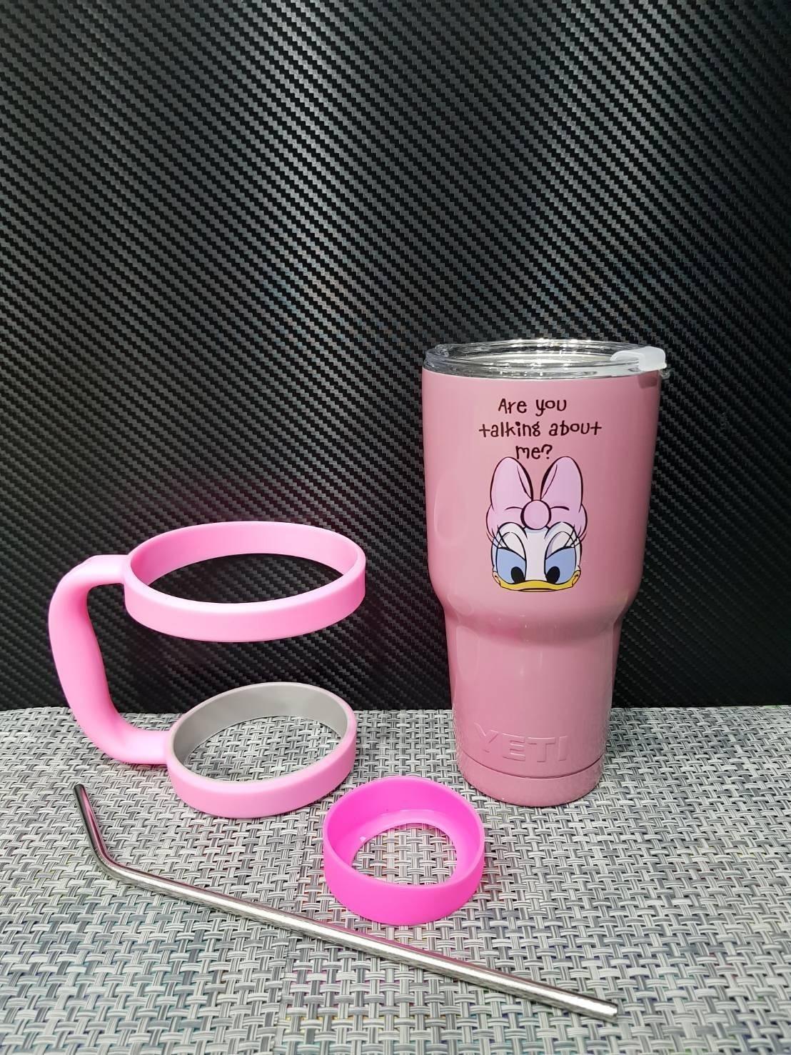 ชุดแก้วเยติ 30 ออนซ์ พื้นสีชมพู ลายการ์ตูน เดซี่ ดั๊ก