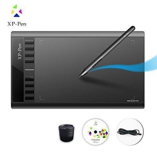 เม้าส์ปากกา XP-Pen รุ่น Star03 ไซส์ใหญ่ 10x6 นิ้ว สำหรับวาดรูป วาดการ์ตูน ปากการองรับแรงกด 2048 levels (สีดำ)