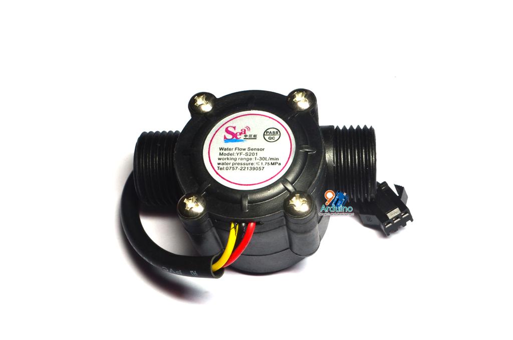 Water Flow Sensor วัดอัตราการไหลของน้ำ 1-30L/min 2.0Mpa