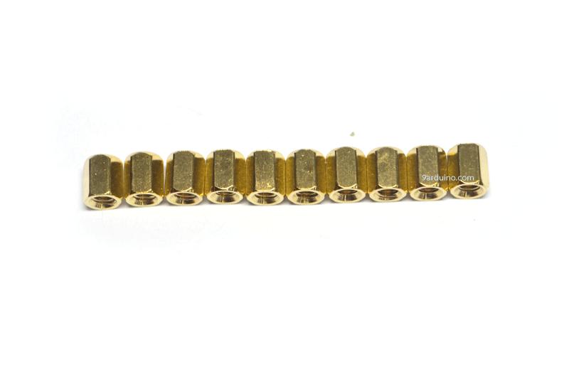 น๊อตทองเหลือง M3x6mm (10 ชิ้น)