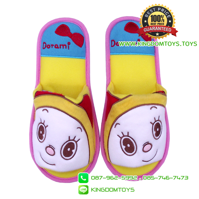 รองเท้า โดเรมี่โบว์แดง พื้นบาง [Disney]