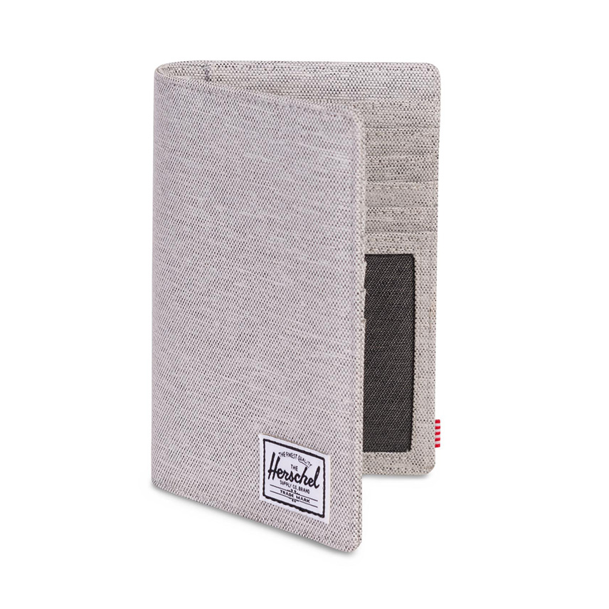 Herschel Search Passport Holder - Light Grey Crosshatch / RFID - ด้านข้าง