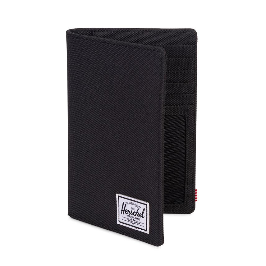 Herschel Search Passport Holder - Black / RFID - ด้านข้าง