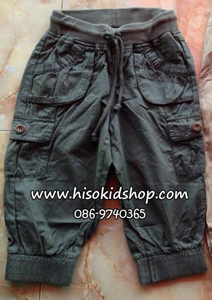 1151 กางเกงผ้าเนื้อดีมาก งานส่งออกญีปุ่น ใส่ได้ทั้งหญิงและชาย สีเขียวเข้ม ขนาด sz 130