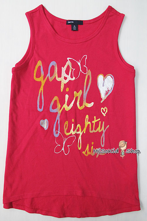 1207 Gap Kids Tank - Raspberry ขนาด 14,16 ปี