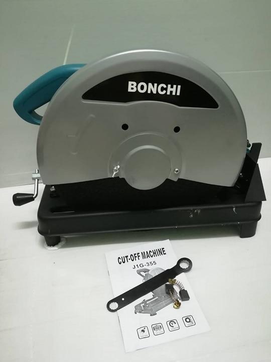 ไฟเบอร์.BONCHI ฟ้า มอเตอร์ ทองแดงแท้ 100% แถมฟรีใบตัดเหล็ก14นิ้ว 1แผ่น